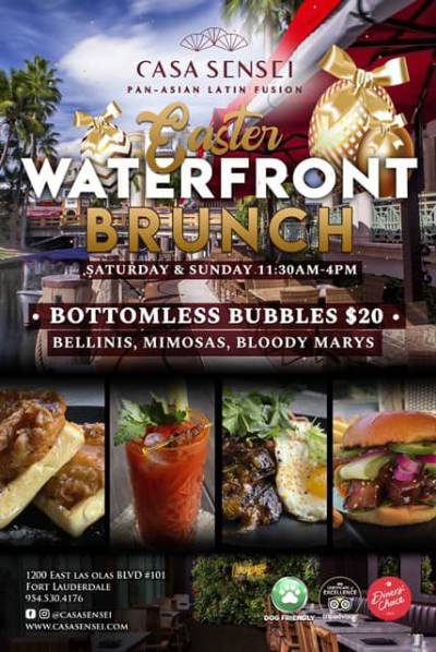 Casa Sensei - Launches Waterfront weekend brunch