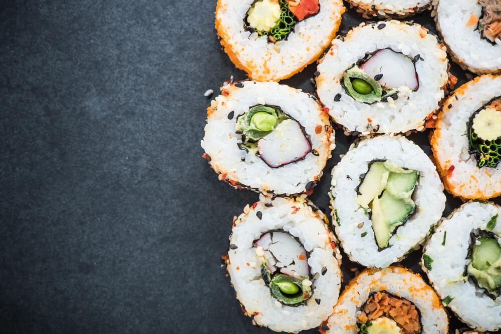 California sushi style rolls